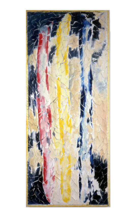 Re-Painting Red,Yellow Blue - GP 89 Oil on Canvas 40 x 17-final